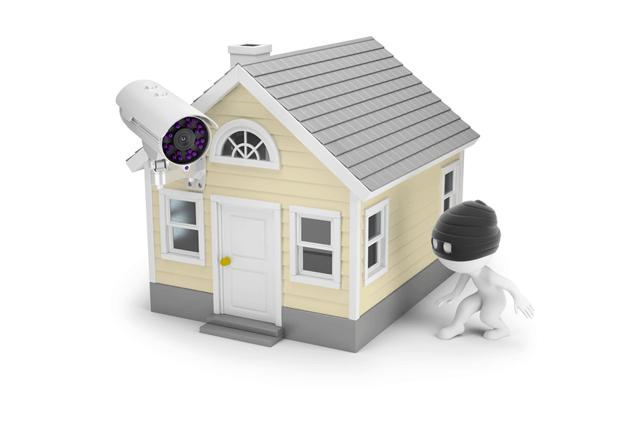 空き巣と家