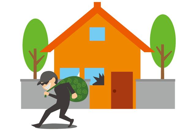 家に侵入した泥棒