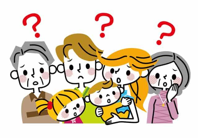 疑問を持つ家族