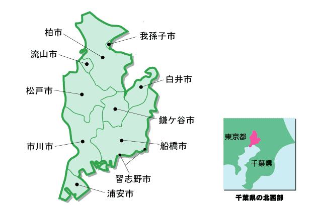 京葉ガスの供給地域