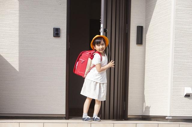帰宅した小学生