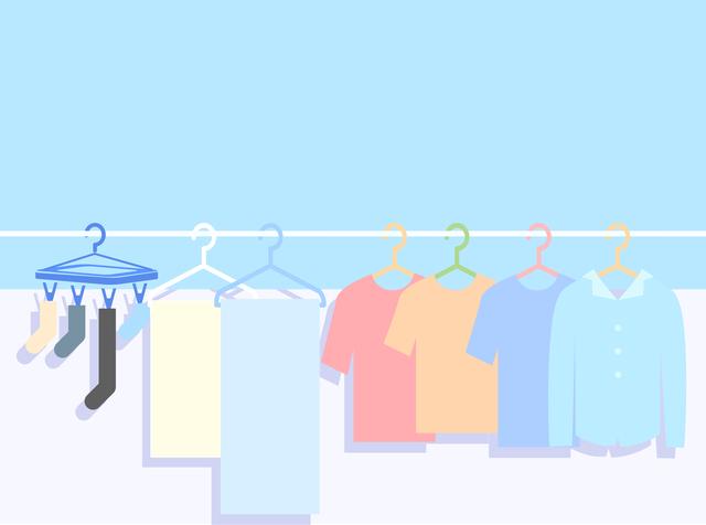 外干しされた洗濯物