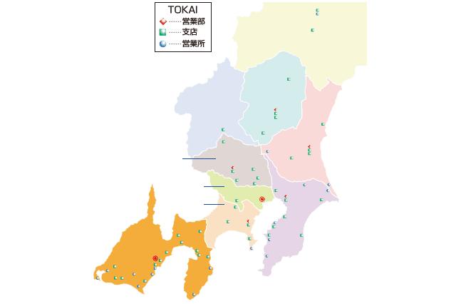 TOKAIセキュリティの地図